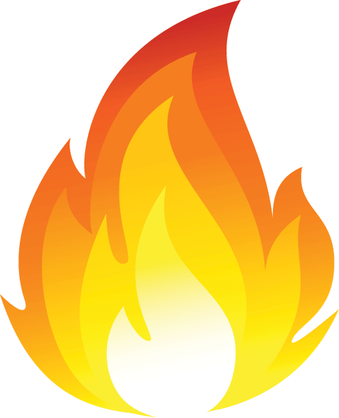 Clipart of campfire flames