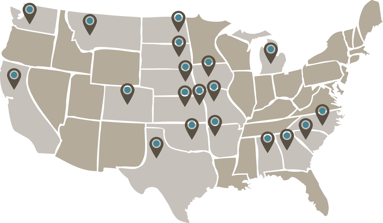 Map of member universities